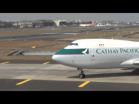 Cathay Pacific Cargo Boeing 747F Taxing To Hold Short Point N1 at CSIA Mumbai