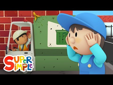 Gus's Garbage Truck goes through the car wash | Cartoon for kids