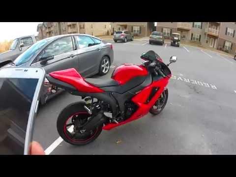 2007 Kawasaki ZX6R full Jardine Exhaust sound clip **HD**