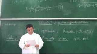 EPST ANNABA. COURS ANALYSE. 1ERE ANNEE . CHAPITRE7.  EQUATIONS DIFFERENTIELLES D