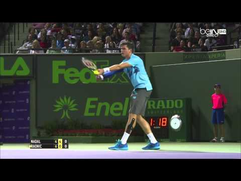 Nadal vs Raonic, Miami 2014 27/03/14
