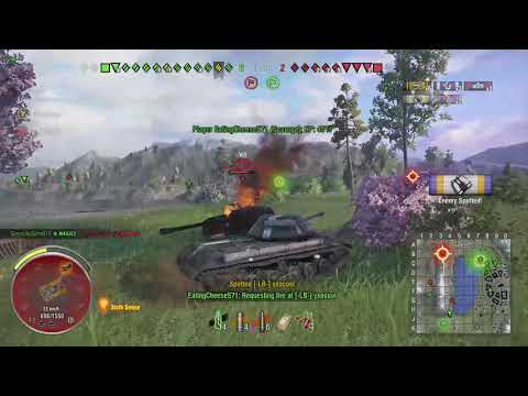 World of Tanks Xbox one Scourge Kirovets-1 8 Kills (M) Radley-Walters' Medal (Full Replay )