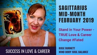Sagittarius Mid-Month February 2019 *Success in Love & Career*
