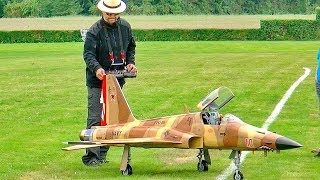 HUGE XXL RC F-5 TIGER II SCALE MODEL TURBINE JET FLIGHT DEMONSTRATION