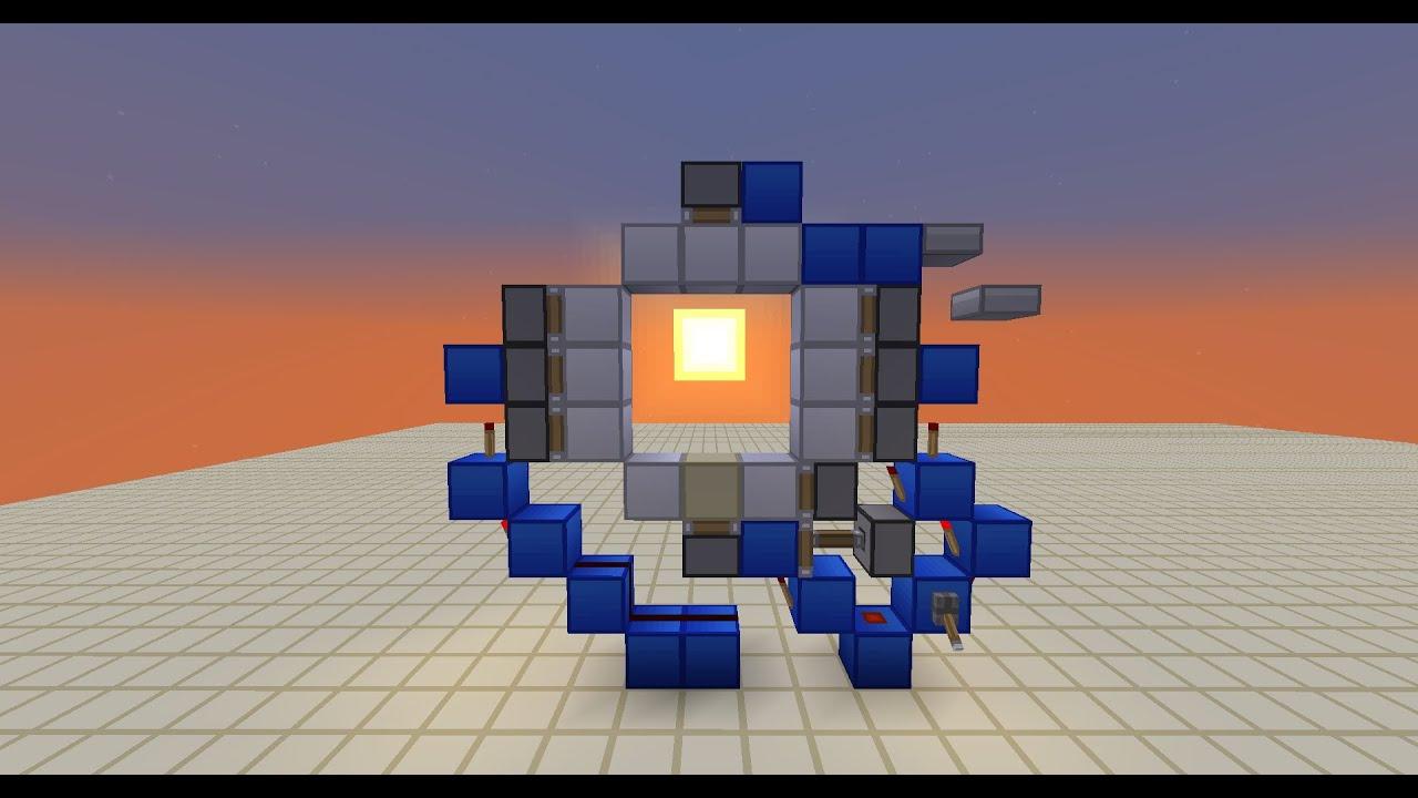 Minecraft cheap simple 3x3 piston door youtube for Porte 3x3 minecraft