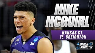 Kansas St. vs. Creighton: Mike McGuirl's strong shooting helps the Wildcats advance