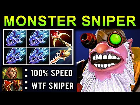 MONSTER SNIPER DOTA 2 PATCH 7.07 NEW META PRO GAMEPLAY