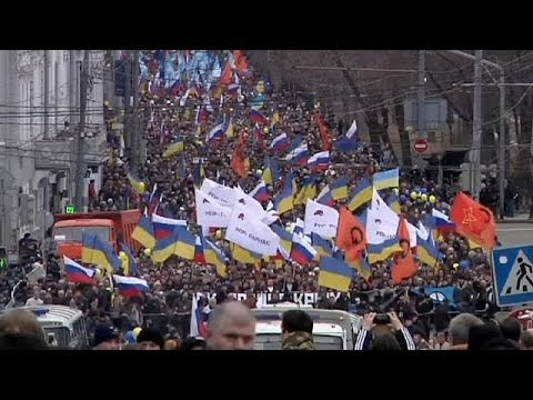 Moscow the centre for pro and anti rallies on eve of Crimea vote