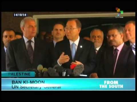Ban Ki Moon visits Gaza Strip