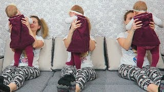 3 Cute Babies Sitting On the Bed | Song for Children Baby Songs