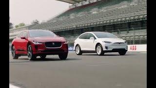 Jaguar I-Pace vs Tesla Model X 75D drag race