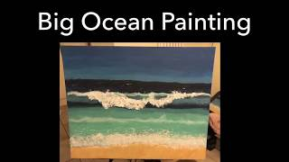 Big Canvas Painting- Ocean🌊