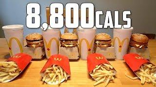 Impossible McDonald's Big Mac Meal Challenge (8,800 Calories)