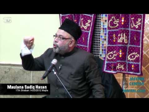 Maulana Sadiq Hasan 17th Shaban 2012 at Jaffari - Atlanta