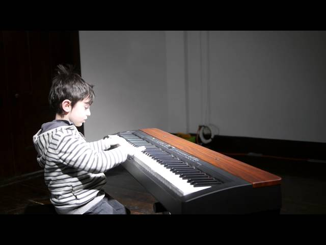 Ellis (7) plays Beach Buggy Boogie - piano recital