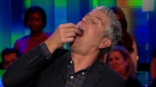 Bourdain eats fetal duck egg on air