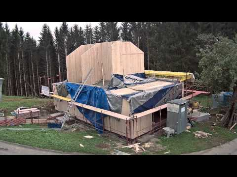 Ecoforma ökologischer Holzbau Aufstellung 1 Woche
