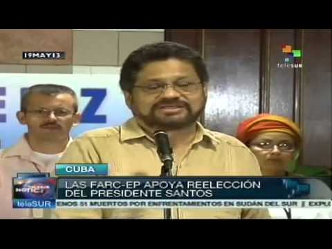 FARC welcomes President Santos decision to run for re-election