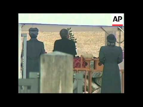 JAPAN: HIROHITO ATTENDS REMEMBERANCE OF FATHERS DEATH