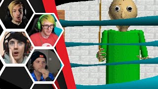 Let's Players Reaction To Trying To Hide From Baldi In A Locker | Baldi's Basics