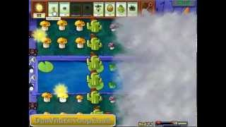 "Plantas Vs Zombies ""Nivel 4-4"""
