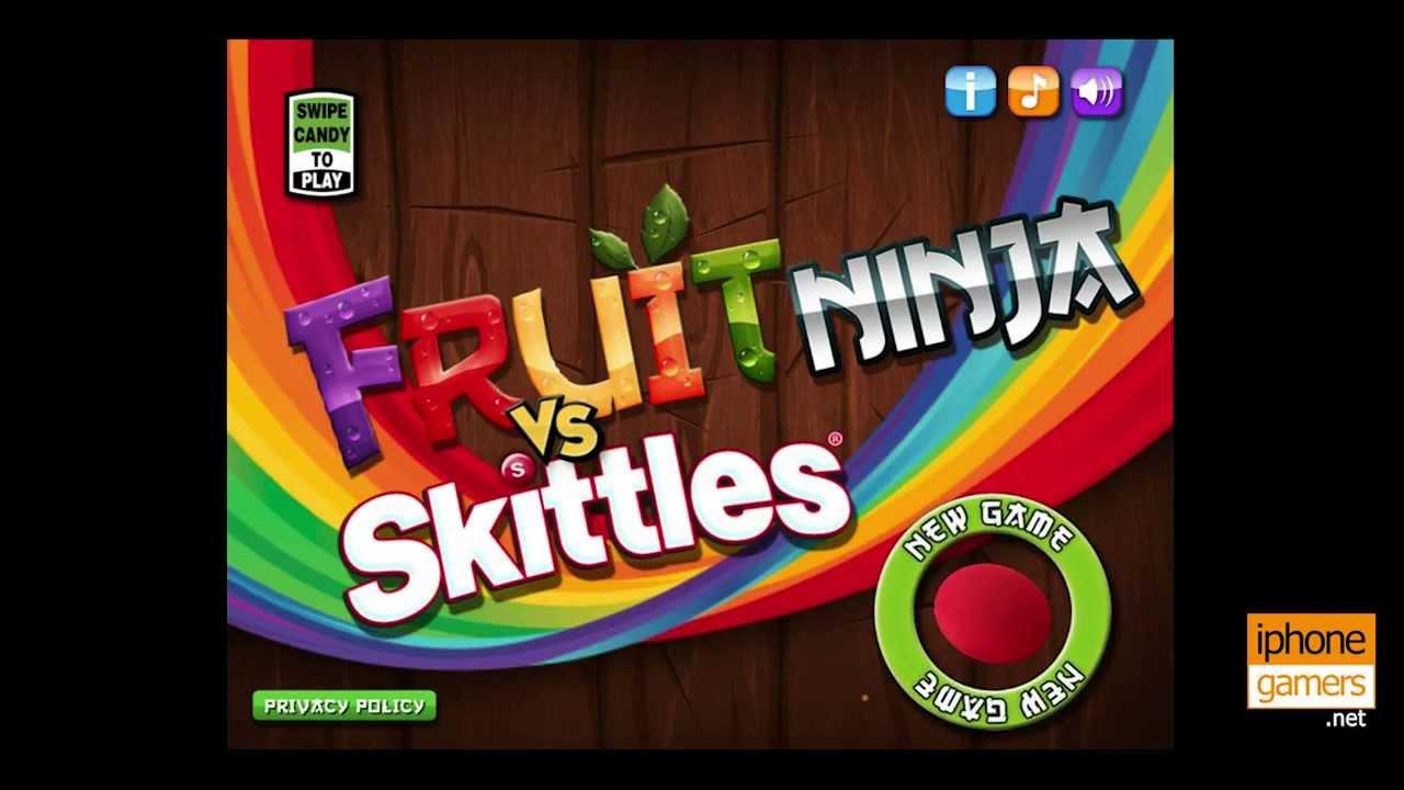 Fruit Skittles Ninja Fruit Ninja vs Skittles