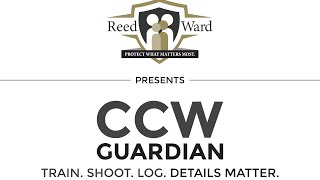 Why CCW Guardian? Train. Log. Shoot. Details Matter.