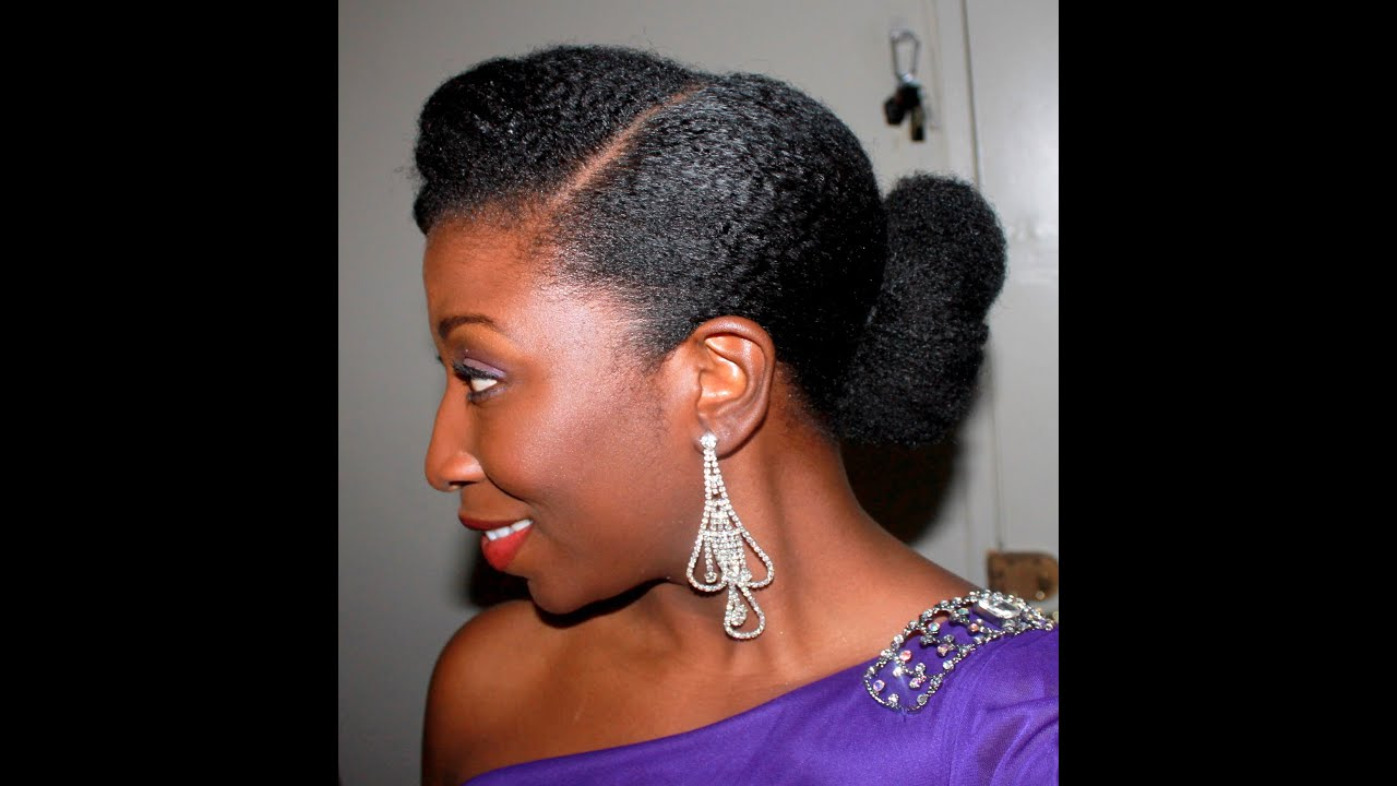 47 Elegant Updo On Stretched Natural Hair Youtube