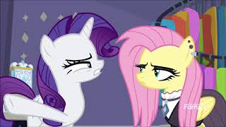 Rarity terminating three Fluttershy's