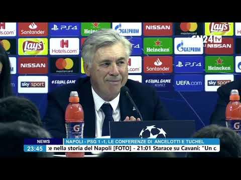 conferenza stampa dopo Napoli - PSG