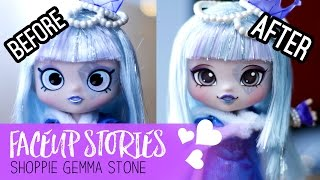 Repainting Dolls - Shoppies Gemma Stone - Faceup Stories ep.45