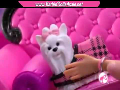 Barbie  Pink World Dolls Furniture Sets And House Commer 2011  video