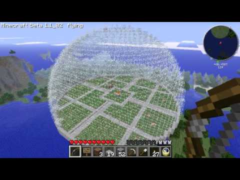 Minecraft Dome 32 Radius
