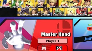 Super Smash Bros Ultimate - Play as Master Hand Boss Character World of Light