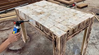 Amazing Design Ideas Woodworking Easy From Pallet - Build A Outdoor Dining Table From Blocks Pallets