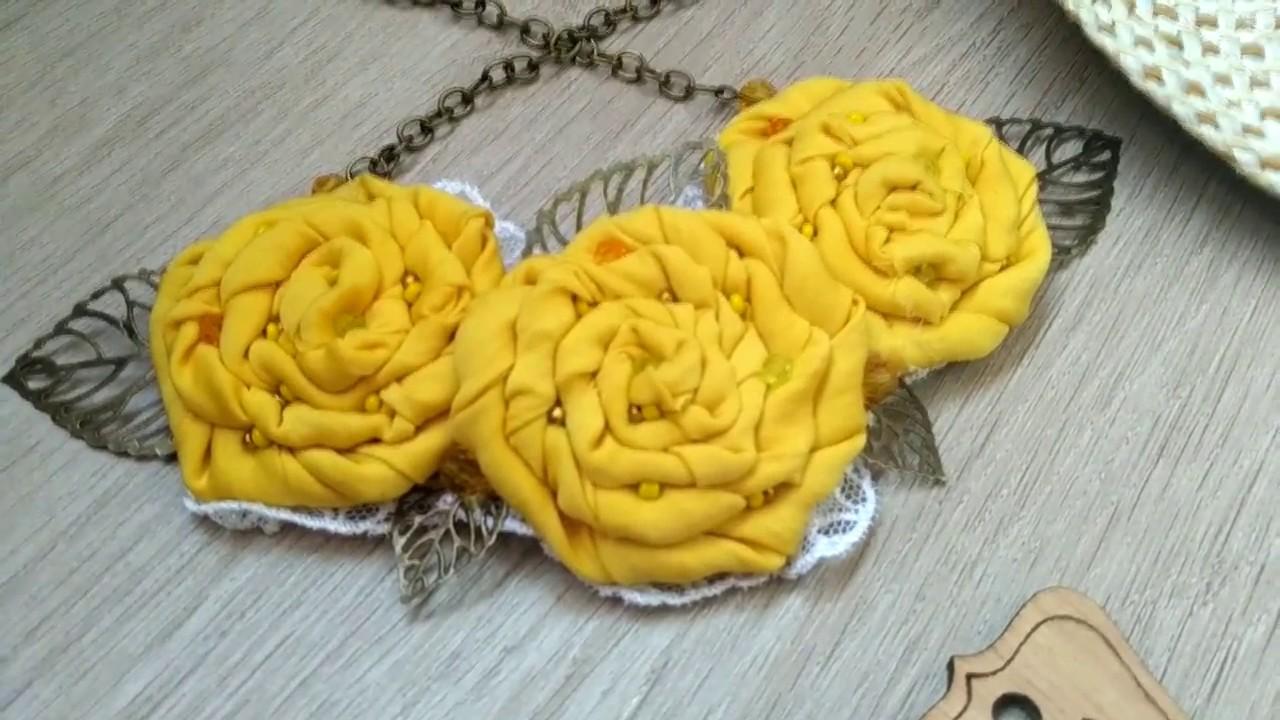 Розы из ткани свои руки 107