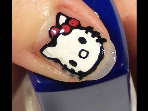 Hello Kitty Nails Video