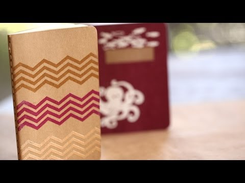 How to Make Stamp Embossed Journals    KIN DIY