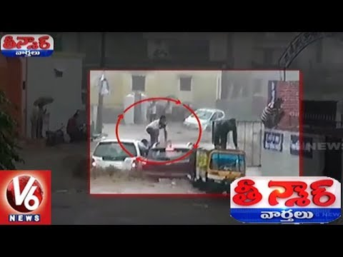 Miracle Escape | Passengers Escape As Floods Sweep Away 3 Vehicles In Uttarakhand | Teenmaar News