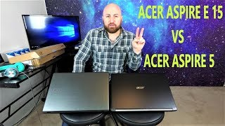 ACER ASPIRE 5 LAPTOP UNBOXING AND COMPARISON VS ACER ASPIRE E 15