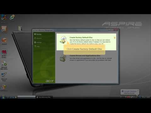 Acer eRecovery - Recovery CD - DVD Creation (English)
