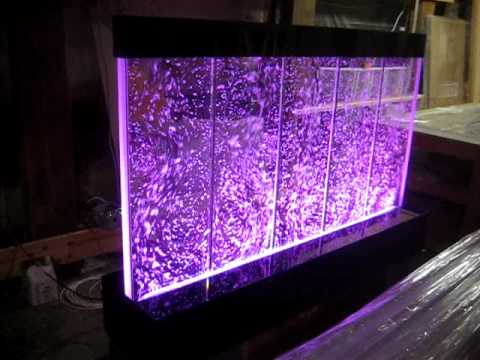 Floor-Standing Bubble Wall, Vertical Baffle style, color-changing LEDs