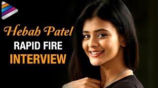 Hebah Patel's Latest Crush Revealed | Hebah Patel about Dhruva and Varun Tej | Rapid Fire Interview