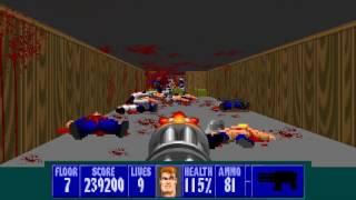 Wolfenstein 3D TLCM: E1L7 (1516 enemies)