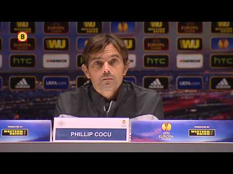 Phillip Cocu voor PSV - Dinamo Zagreb