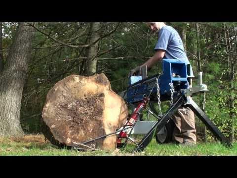 HomeMade Hydraulic log lift on Power Horse Log Splitter