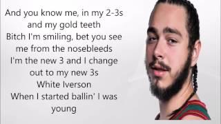 White Iverson - Post Malone | Lyric Video