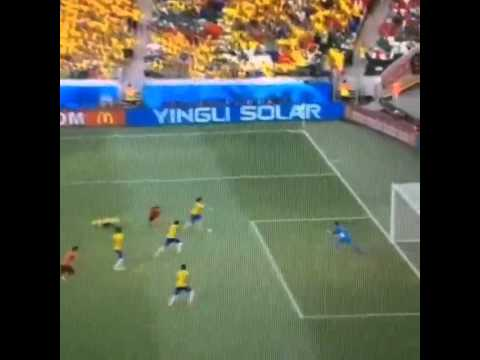 Guillermo Ochoa Saves against Brazil WorldCup 2014