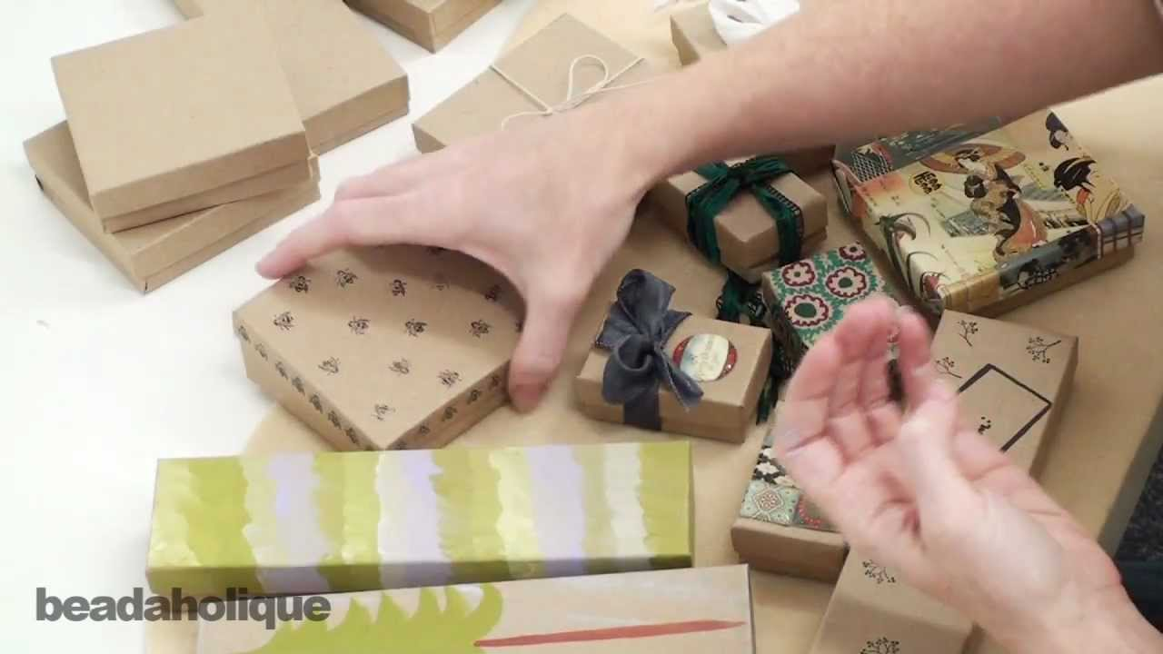 Techniques And Ideas For Decorating Kraft Boxes Youtube