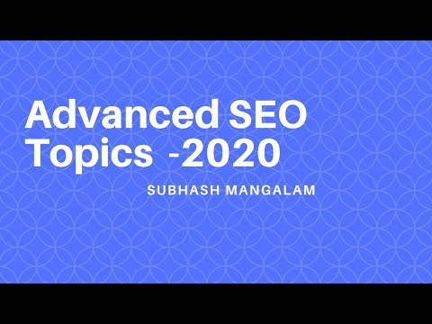 Advanced SEO Topics 2020 | DA and PA | Do Follow and No Follow